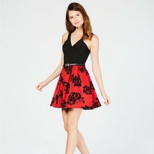 Crystal Doll Red/Black Sleeveless Dress 3 NWT